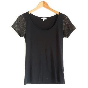 StyleMint | Raglan Gold Specs Black Short-Sleeve